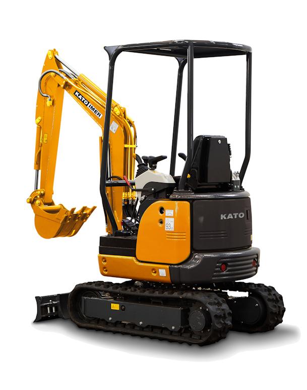 KATO 17 VXE Minibagger optimal für Baugewerbe und GaLaBau