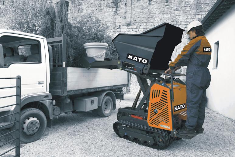 KATO Carry 107 ht Raupendumper perfekt für den Einsatz auf dem Bau