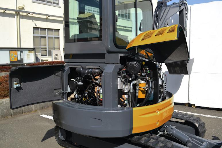 KATO 35 N Minibagger schafft Stufe IIIA der EU-Abgasnorm