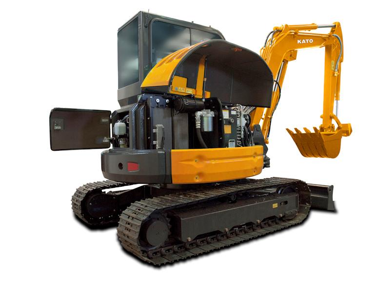 KATO 55 V4 Kurzheckbagger mit 32 kW Leistung