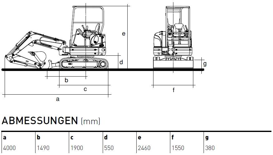 KATO 27 V4 Kurzheckbagger Diagramm