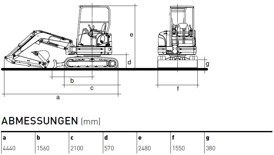 KATO 30 V4 Kurzheckbagger Diagramm