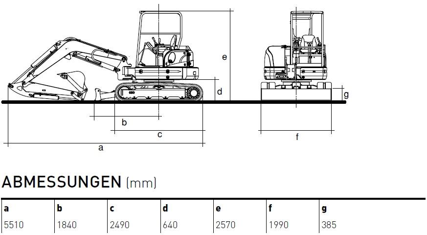 KATO 60 V4 Kurzheckbagger Diagramm