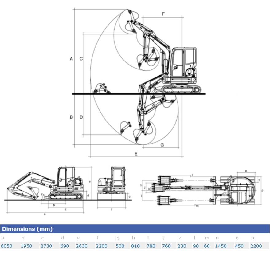 KATO 85 V4 Kurzheckbagger Diagramm