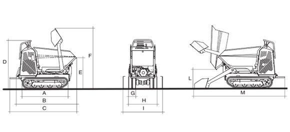 KATO IMER Carry 107 ht Raupendumper-Hochkipper Diagramm