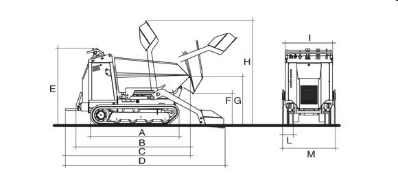 KATO IMER Carry 110 Raupendumper Betonmischer Diagramm