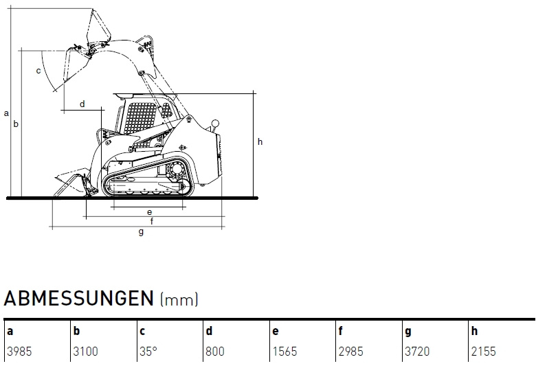 KATO IMER CL45 Kompaktlader Diagramm