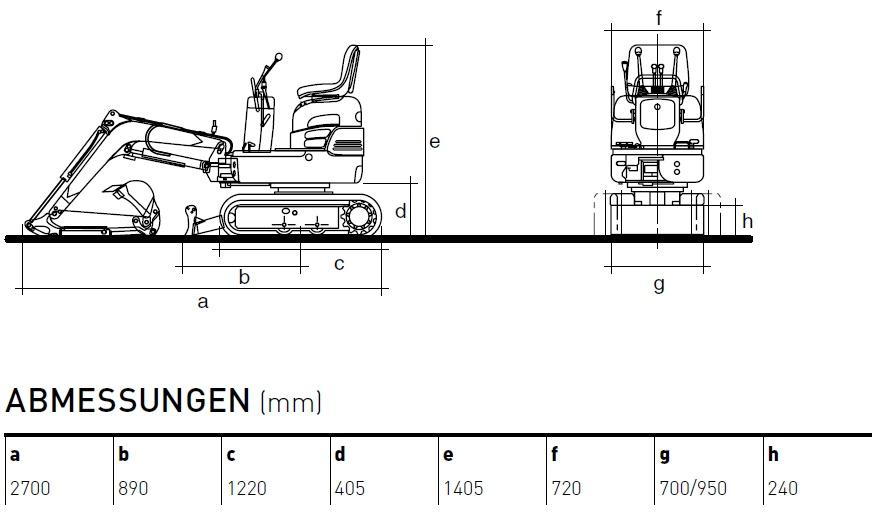 KATO 9 VXE Minibagger Diagramm